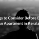 Things to Consider Before Buying An Apartmentin Kerala