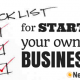 Checklist For Opening Your Own Business